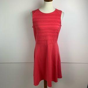 NY&C Red Sleeveless Fit Flare Skater Dress MD 1801